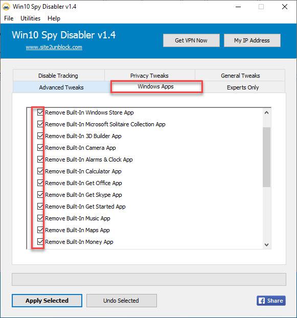 Win10Spy Windows Apps