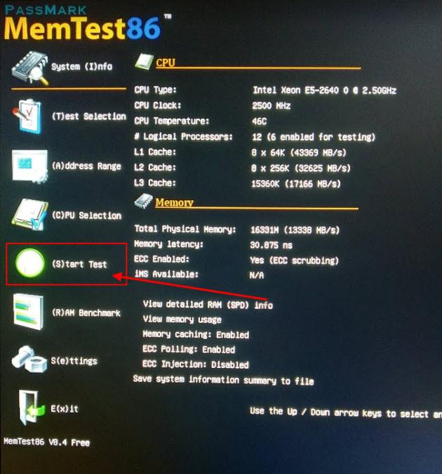 Тест memtes86