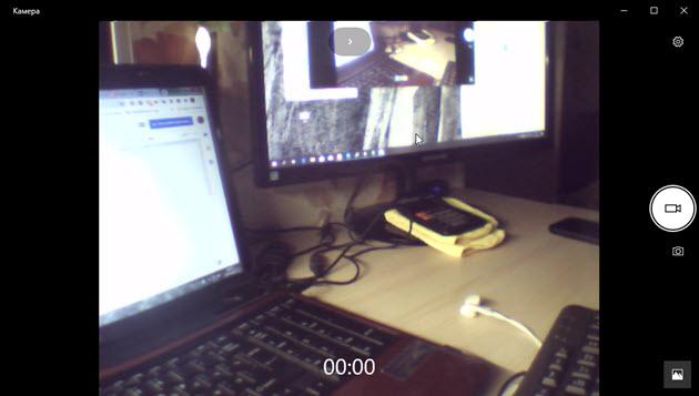 изображение в приложении камера