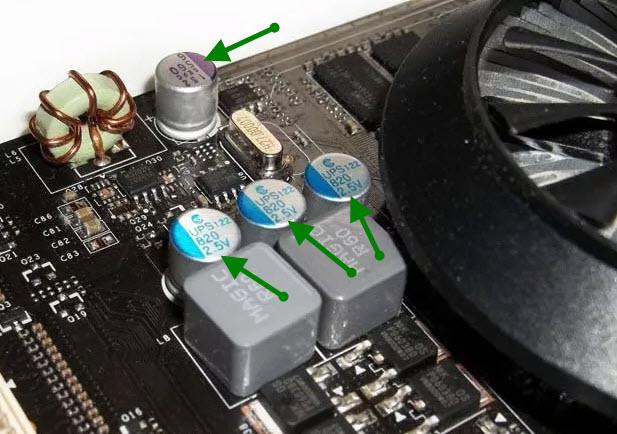 Исправные конденсаторы