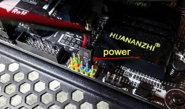 Power SW на материнке
